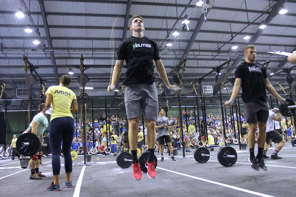 Deportistas concentrados campeonato