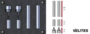 Imagen de los lastres de Velites: 25gr, 50 gr y 100 gr para convertir tu comba en comba lastrada