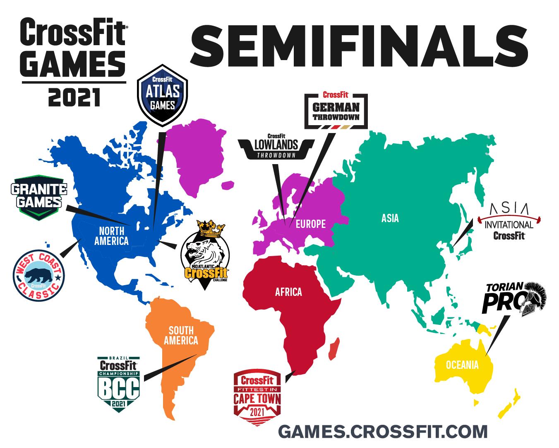 Crossfit semifinales 2021